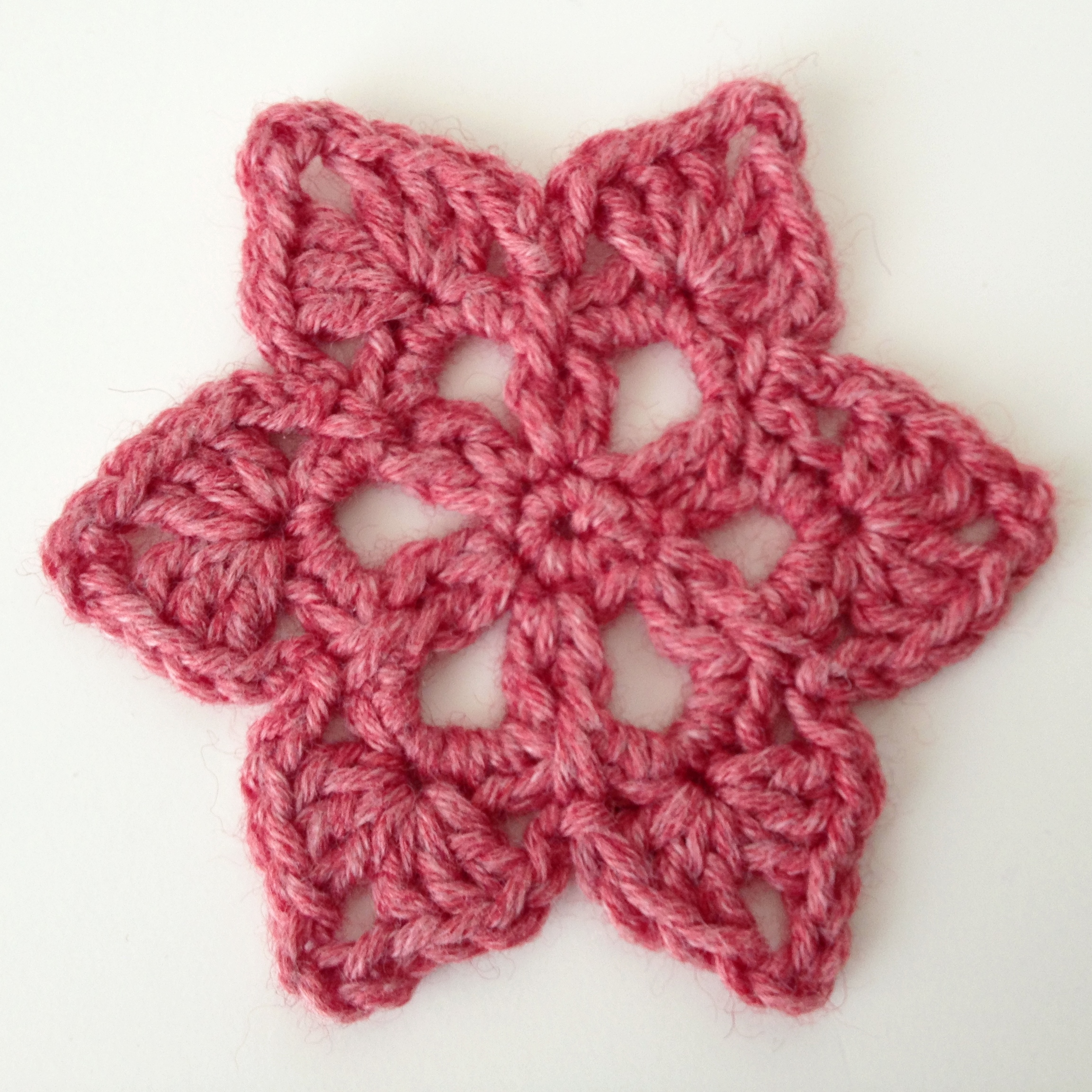 Crochet Patterns For Motifs : Star Crochet Motif Deux Brins de Maille